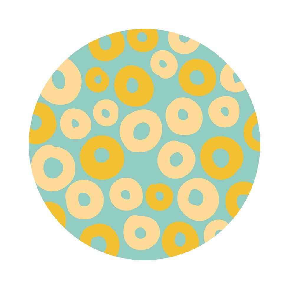 cirkels organische patroonblokstijl vector