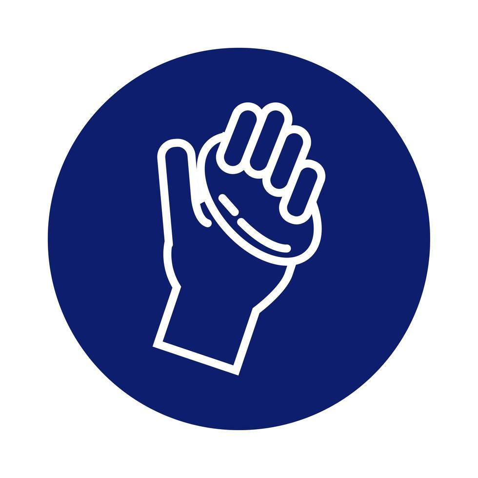 handen wassen met zeep blok stijlicoon vector