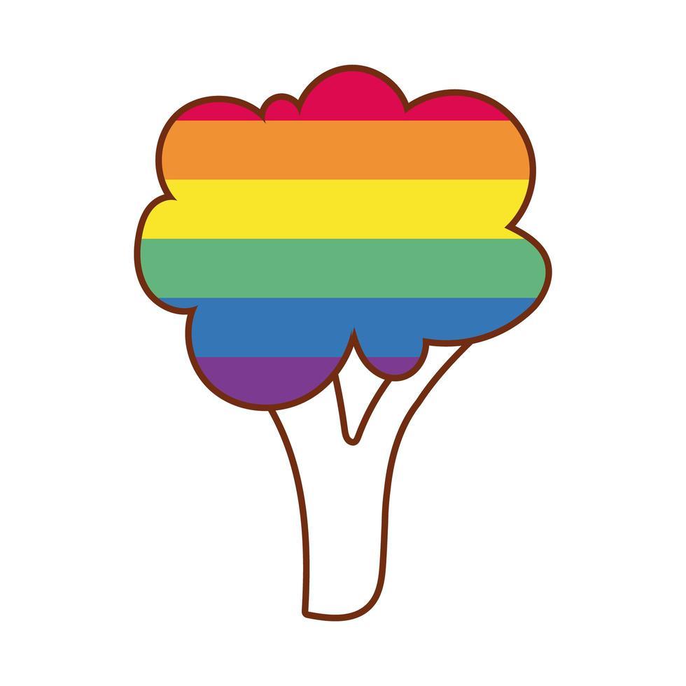 boom met gay pride-kleuren vector