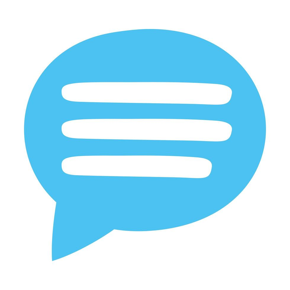 toespraak bubble sociale mediapictogram vector