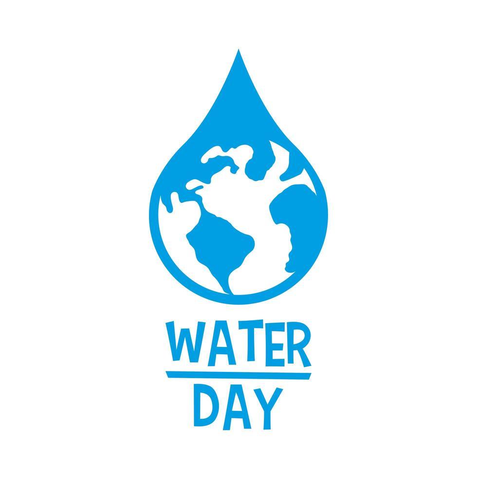 aarde planeet in waterdruppel vector