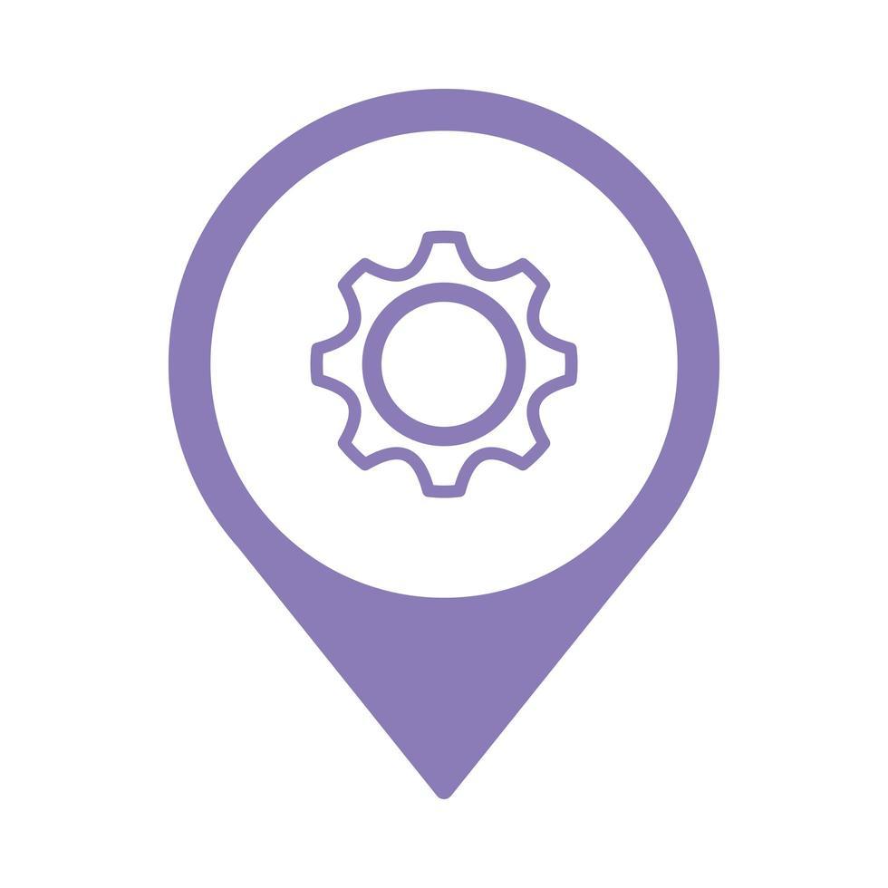 versnelling instellingen setup geïsoleerde pictogram vector