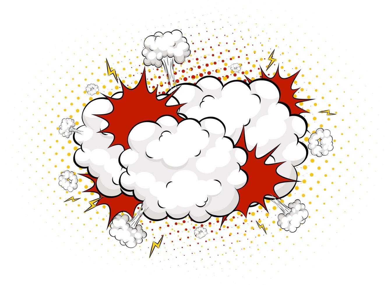 lege boom komische tekstballon op witte achtergrond vector