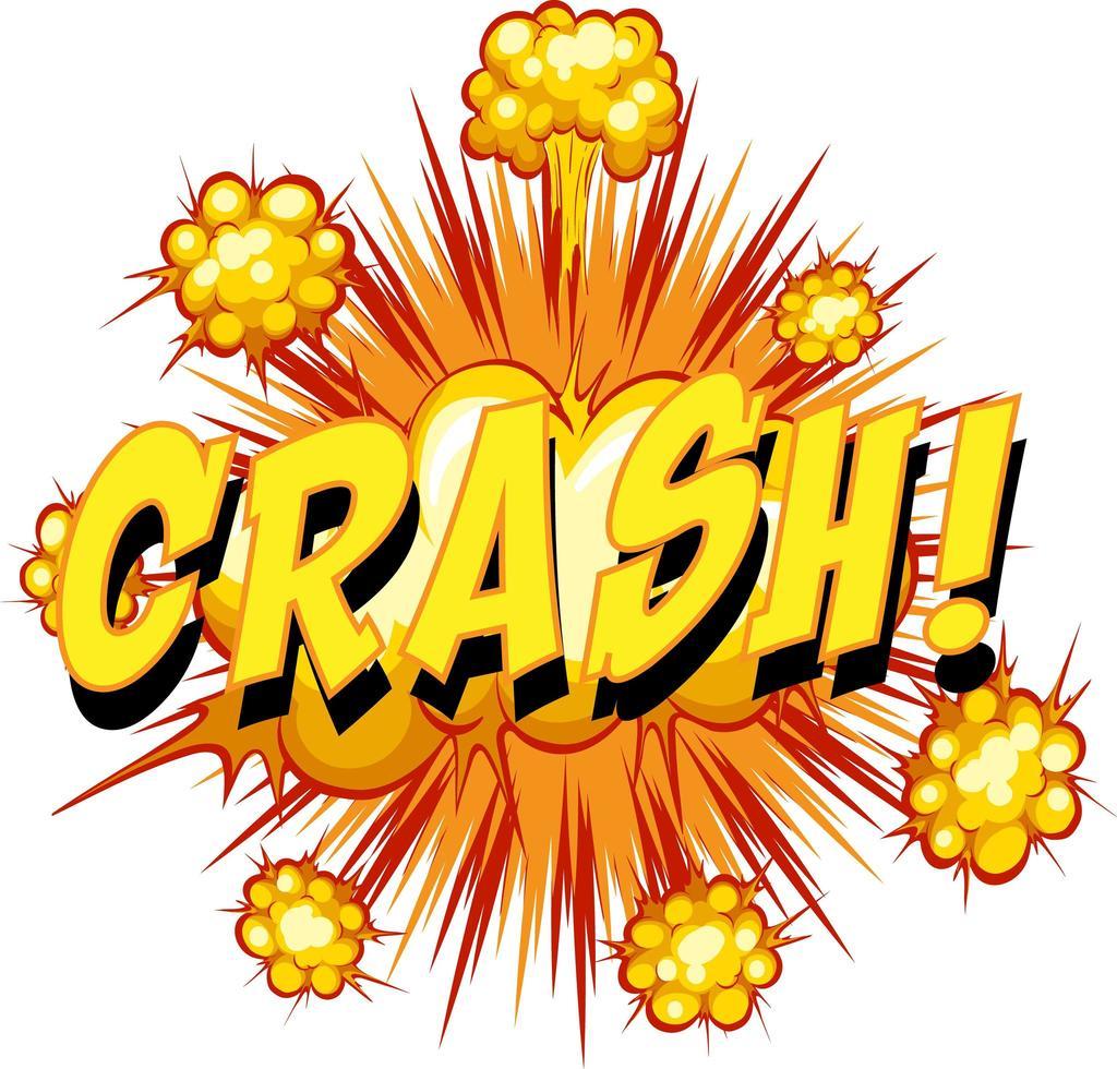 komische tekstballon met crashtekst vector