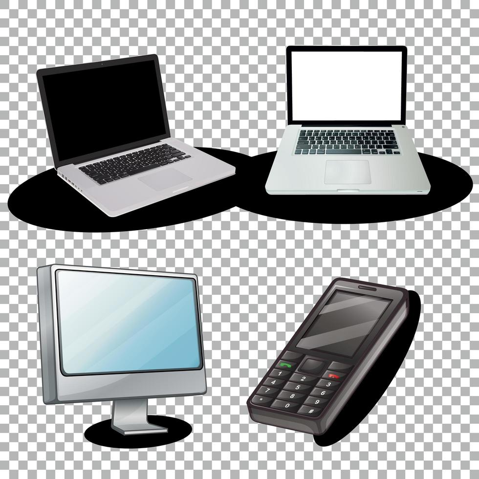 set laptop- en computergadgets vector