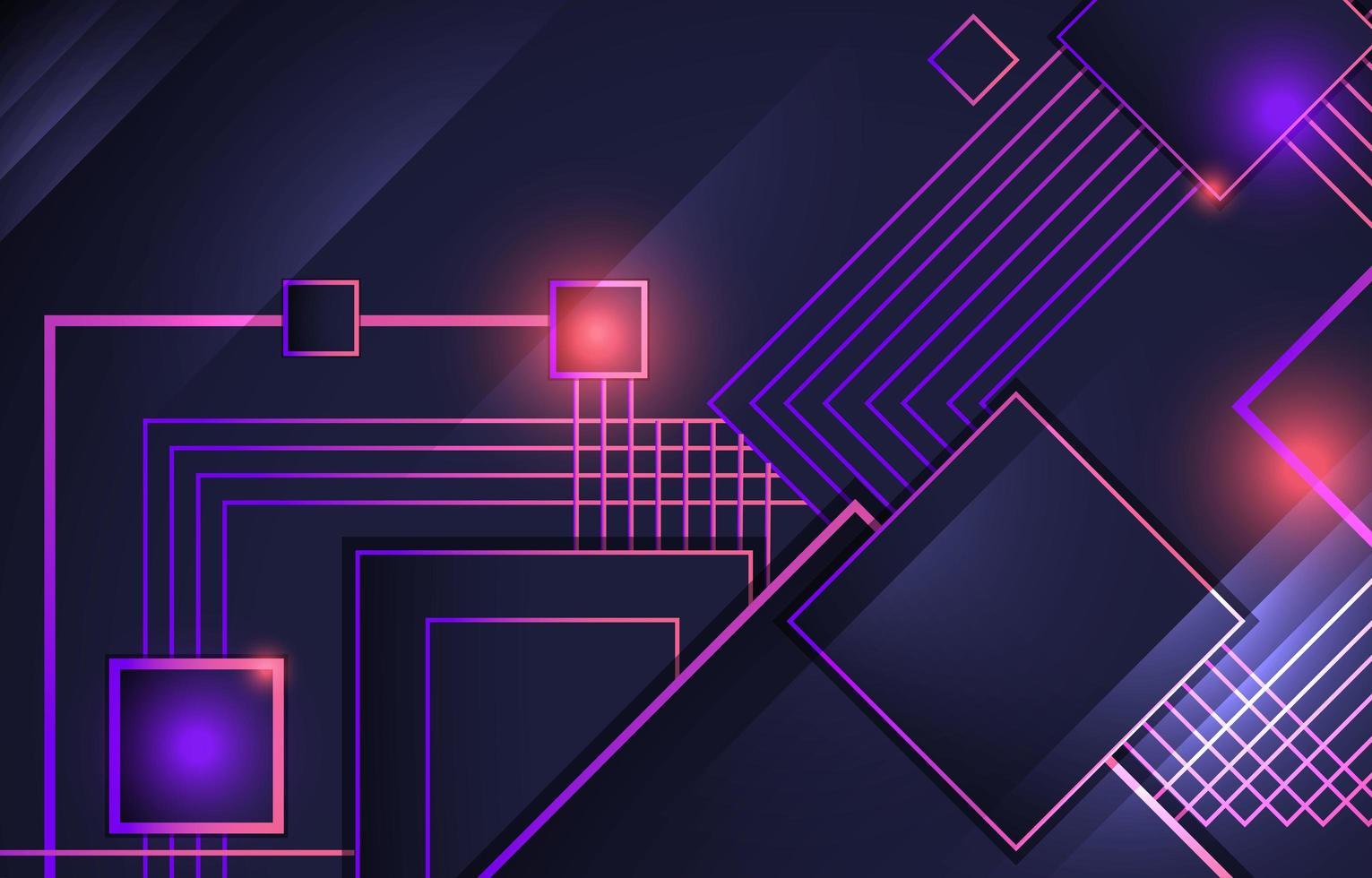 technologie neon achtergrond concept vector