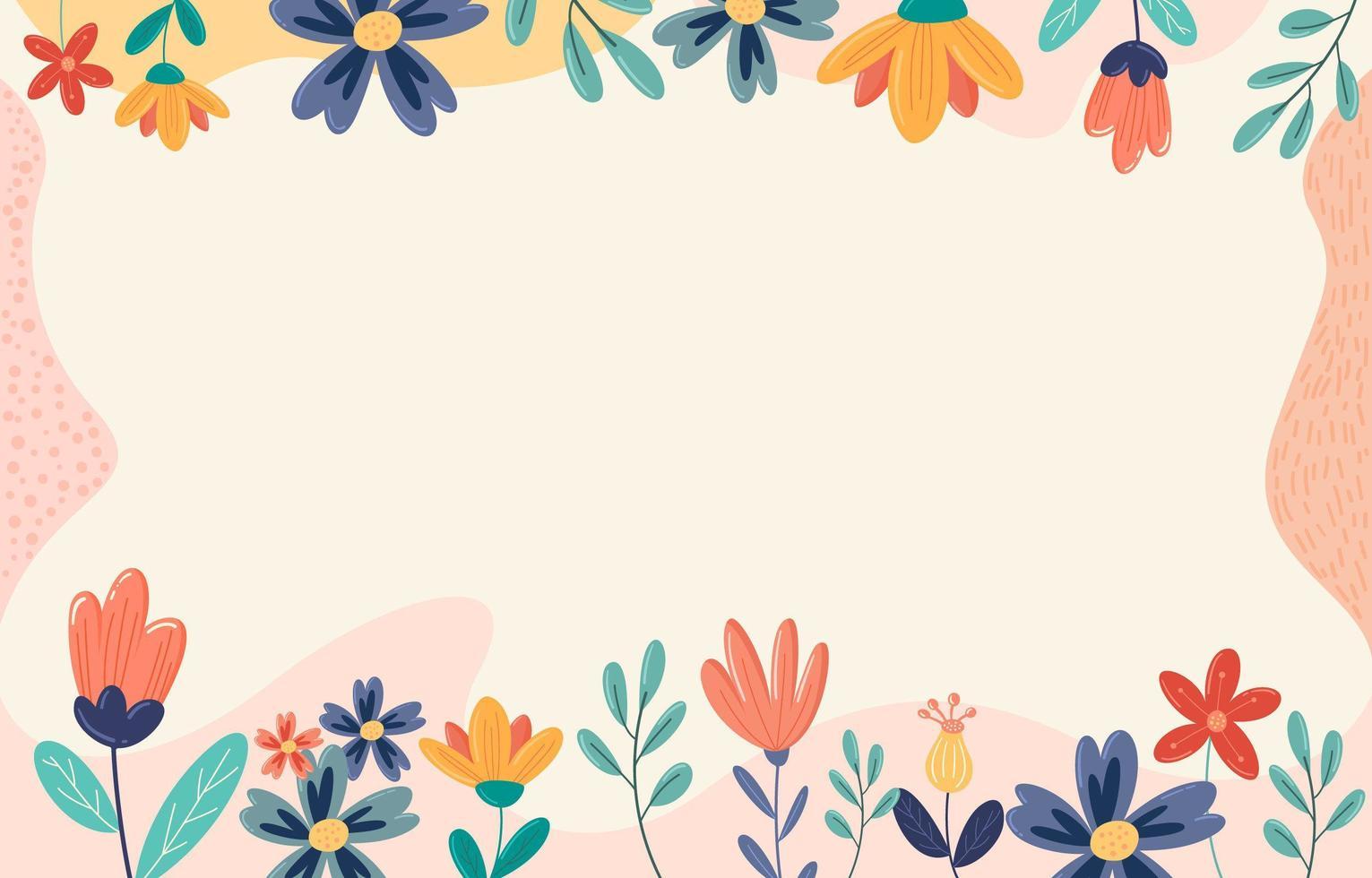 schattige bloemen achtergrond vector
