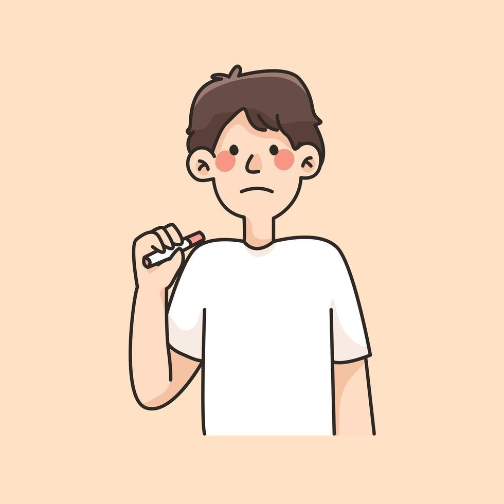 roken en drinken vrouw gewoonten cartoon afbeelding vector