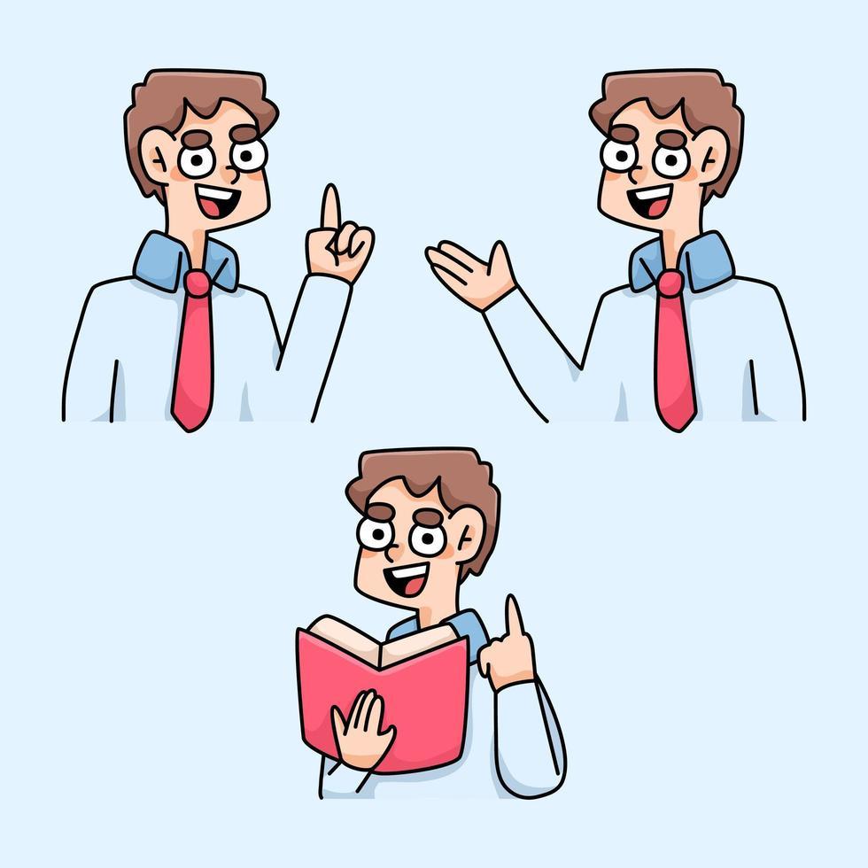 leraar onderwijs instructies cartoon afbeelding vector