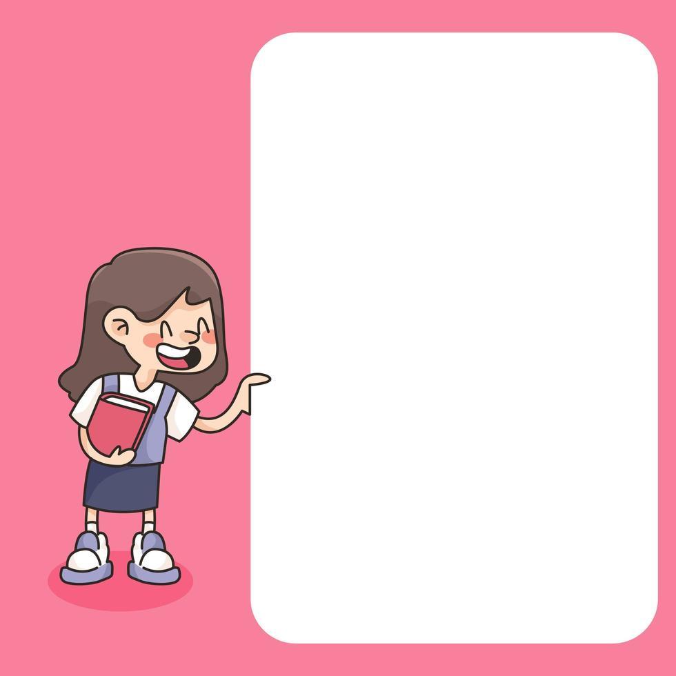 notitieblok schattige student ontwerpt terug naar school om dagelijkse notities te maken vector