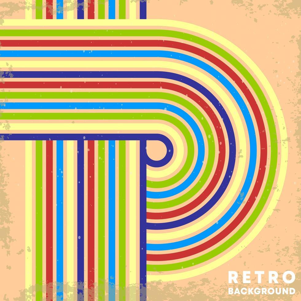 retro grunge textuur achtergrond met vintage gestreepte lijnen vector