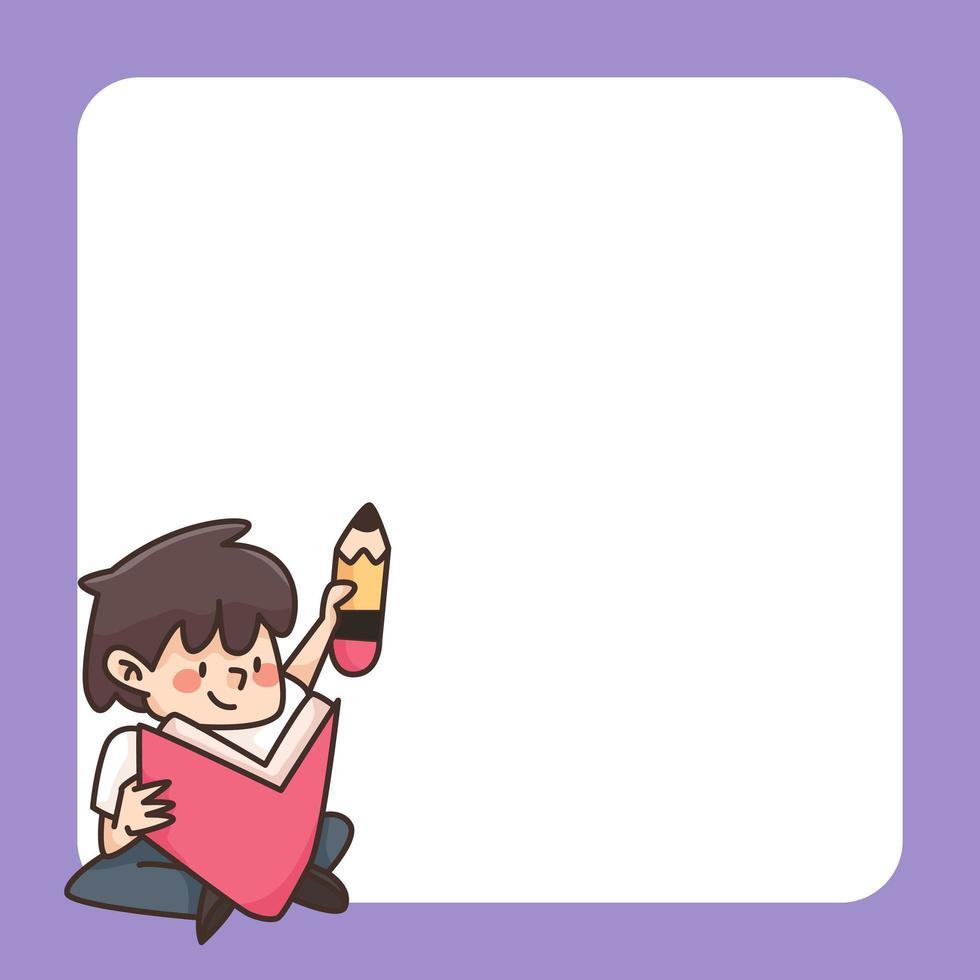 terug naar school Kladblok schattige cartoon afbeelding vector