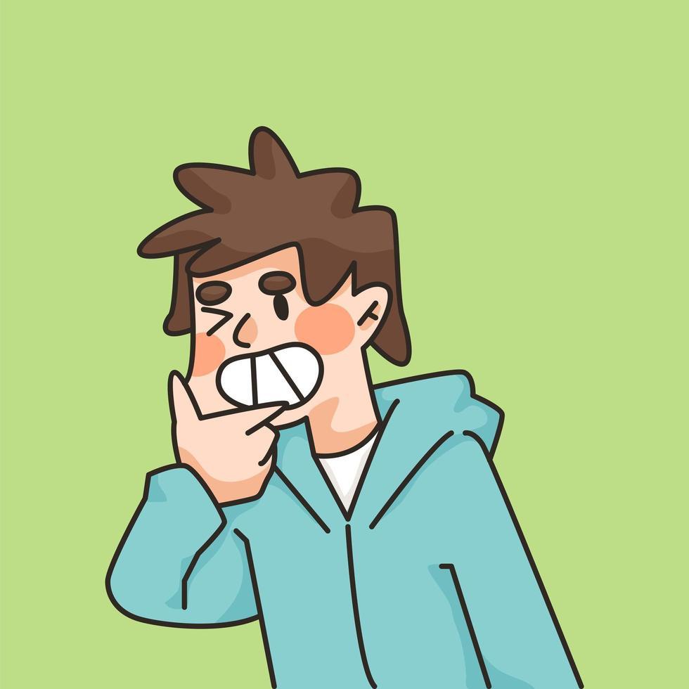 jongen schattige lachende schattige cartoon illustratie vector