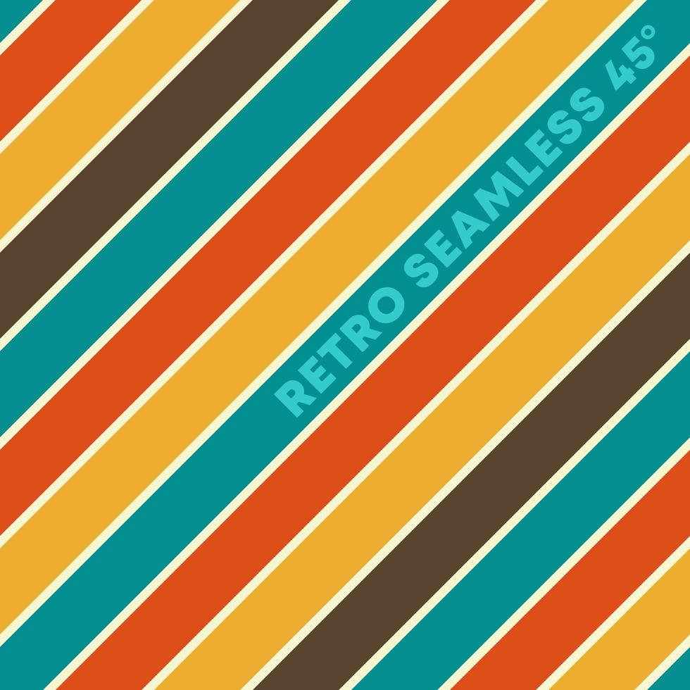 retro design naadloze achtergrond met vintage kleur diagonale lijnen vector