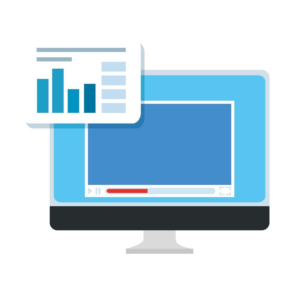 laptop met webpagina en infographic vector
