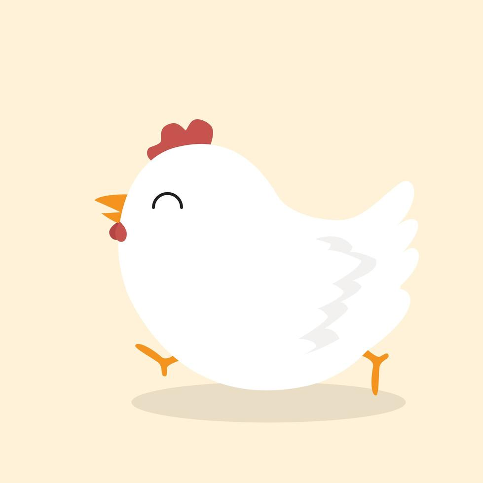 schattige kip dierlijke vector