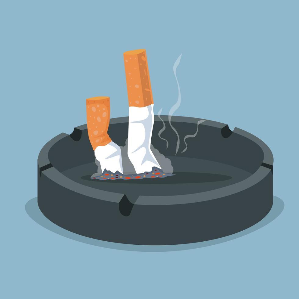 sigaretten in asbak vector