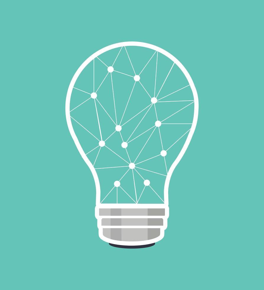 creatieve hersenlamp verbindt de stippen vector