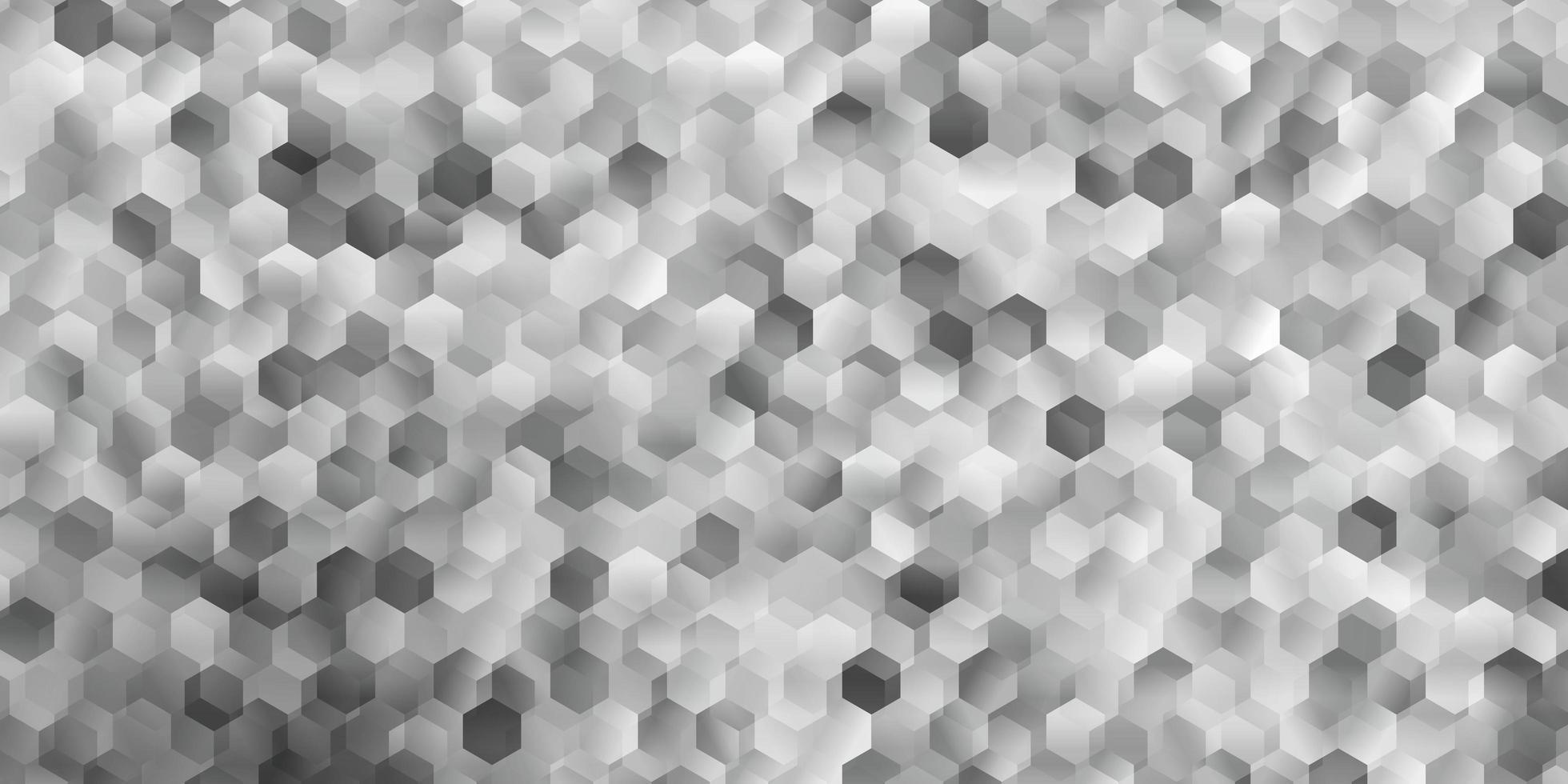 lichtgrijs vectorpatroon met zeshoeken. vector