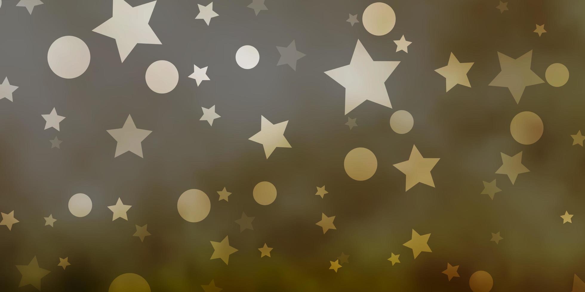 lichtgroen vectorpatroon met cirkels, sterren. vector