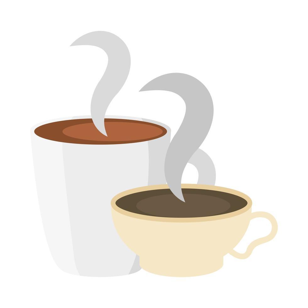 geïsoleerde koffiekopjes vector ontwerp