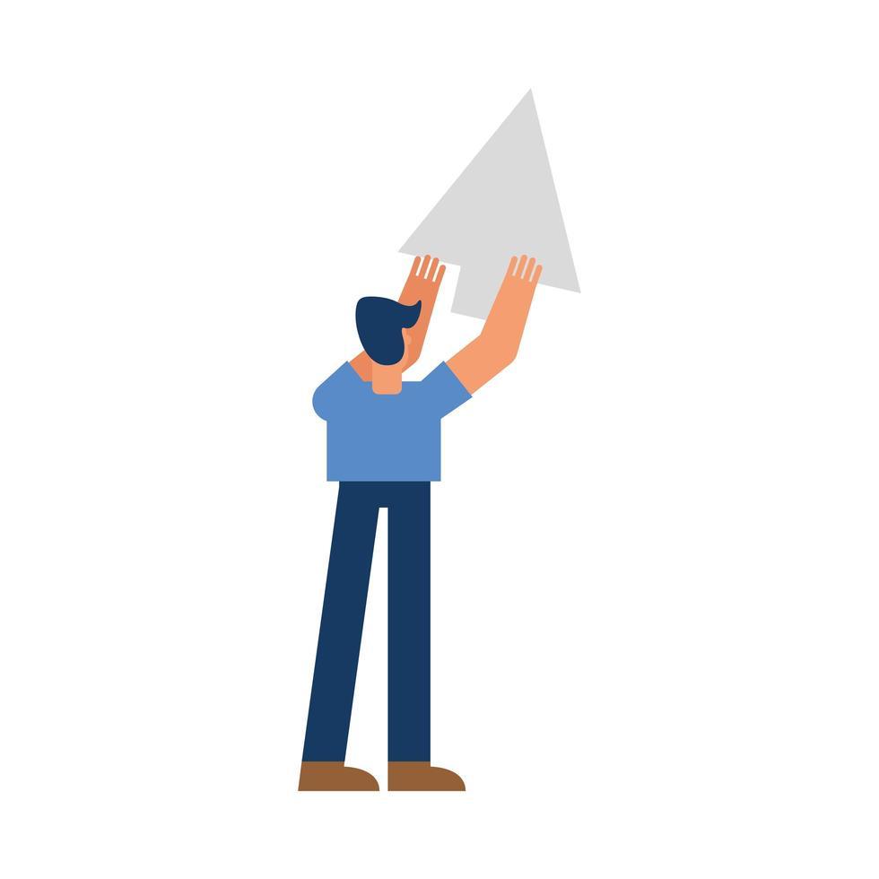 man cartoon met cursor vector ontwerp