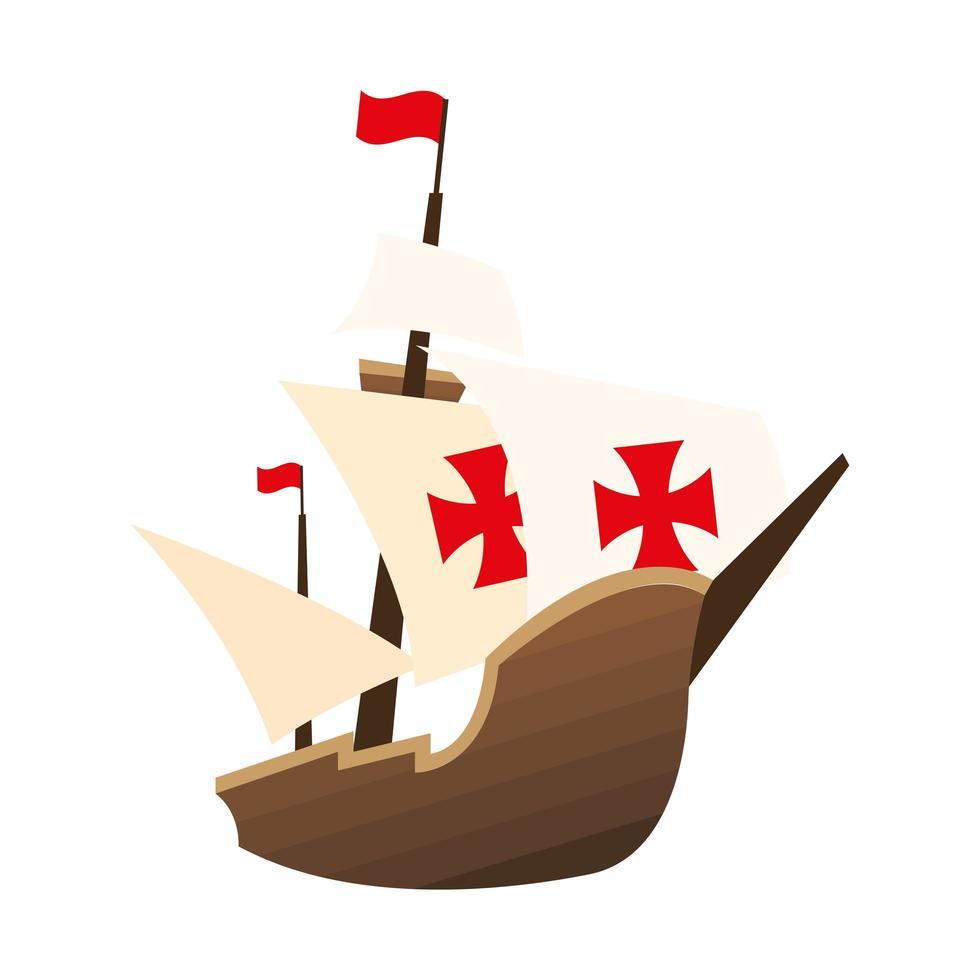 christopher columbus schip vector ontwerp