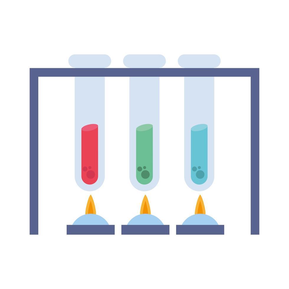 chemiebuizen met vlammen vectorontwerp vector