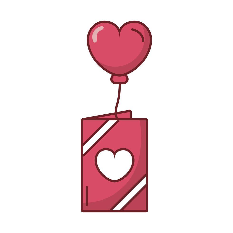 gelukkige Valentijnsdag ansichtkaart met hart vector