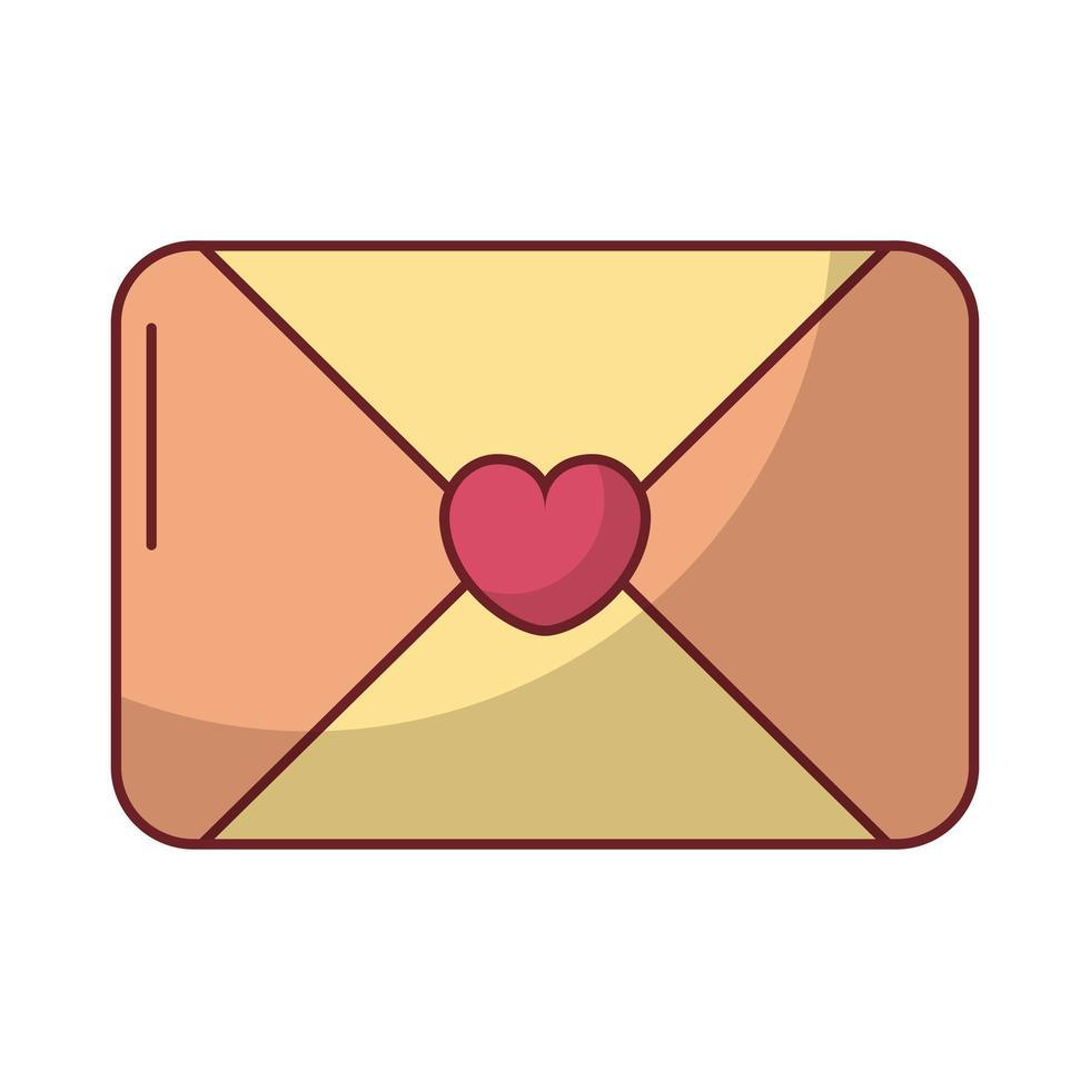 gelukkige Valentijnsdag envelop met hart vector
