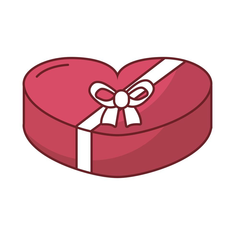 gelukkige Valentijnsdag hart chocoladedoos vector