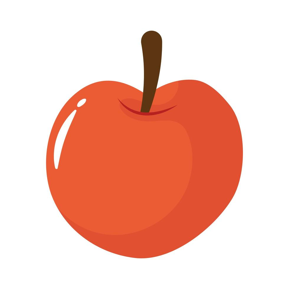 appel vers fruit platte stijlicoon vector