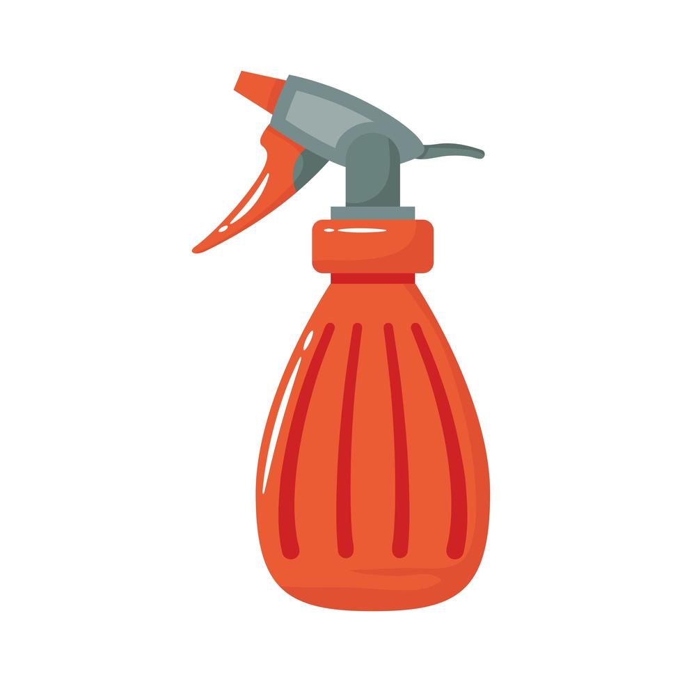 spray fles platte stijlicoon vector