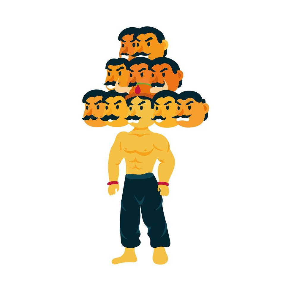 ravana met tien hoofden karakter vector
