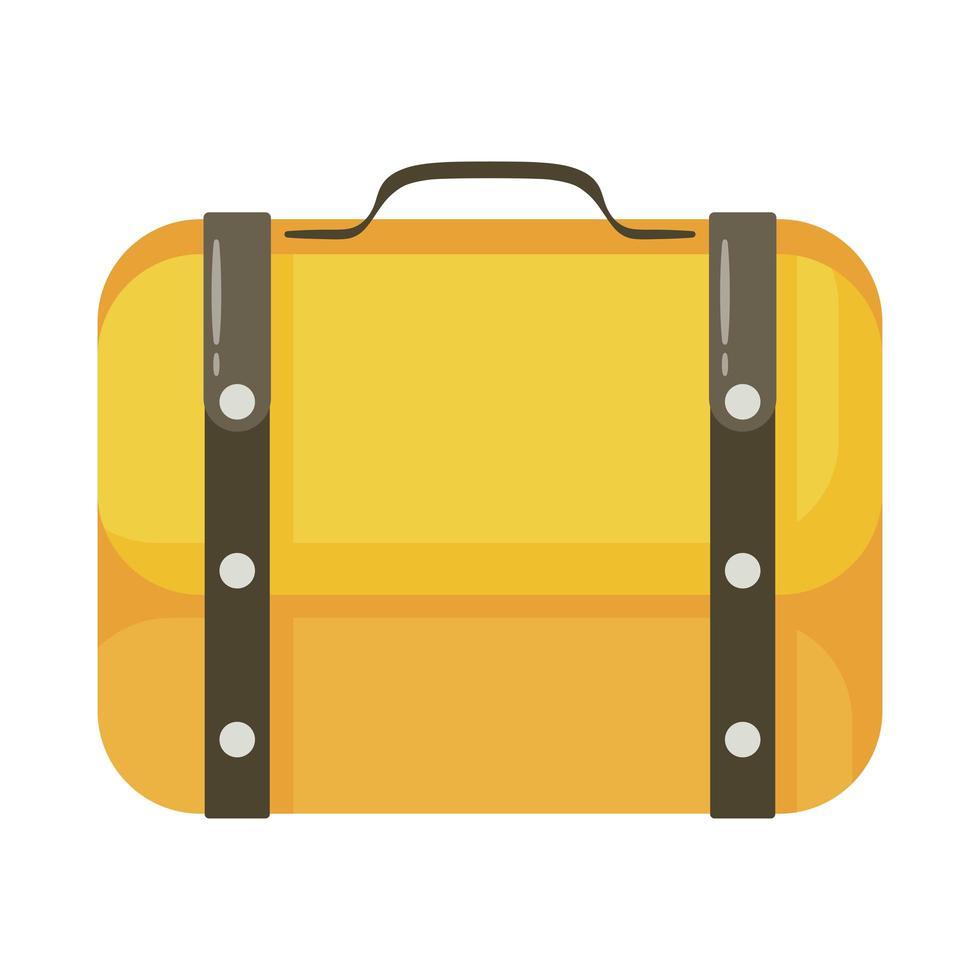 reizen koffer platte stijlicoon vector