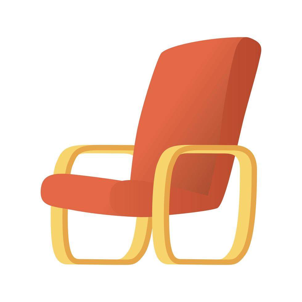 rood zomer stoel geïsoleerd vector illustratie ontwerp