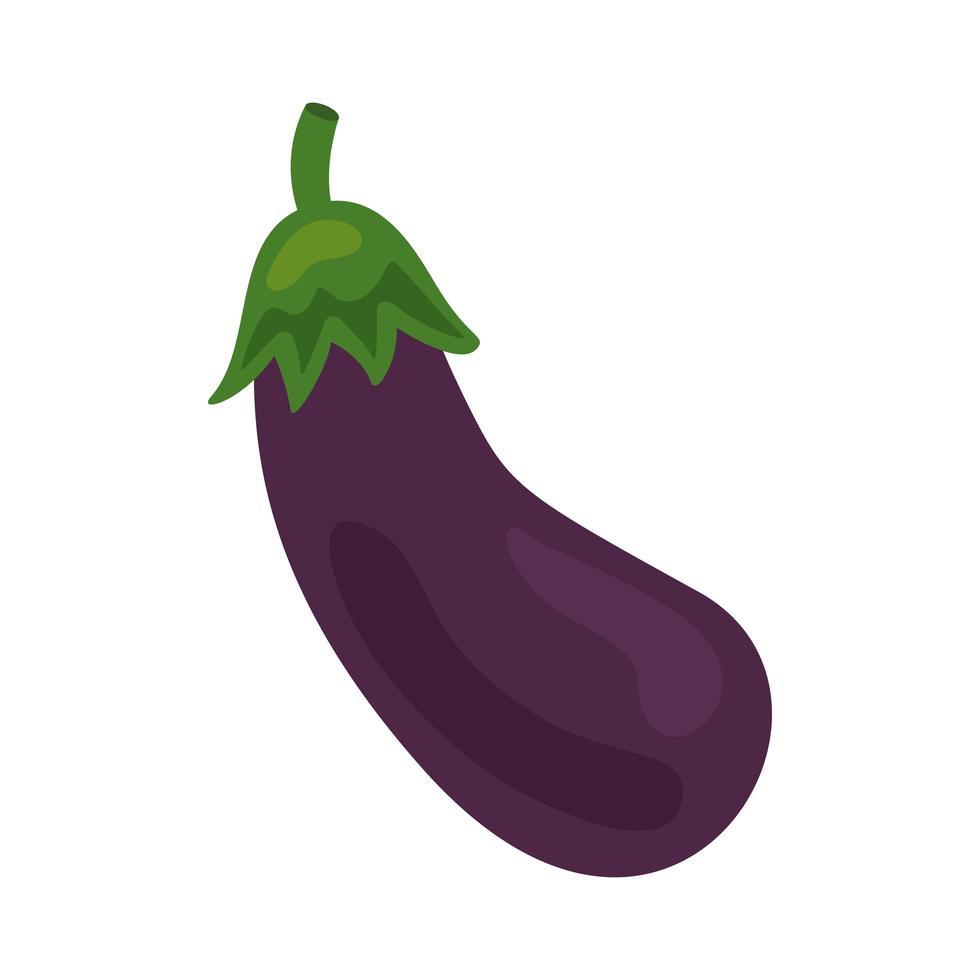 verse aubergine plantaardige gezonde voeding pictogram vector