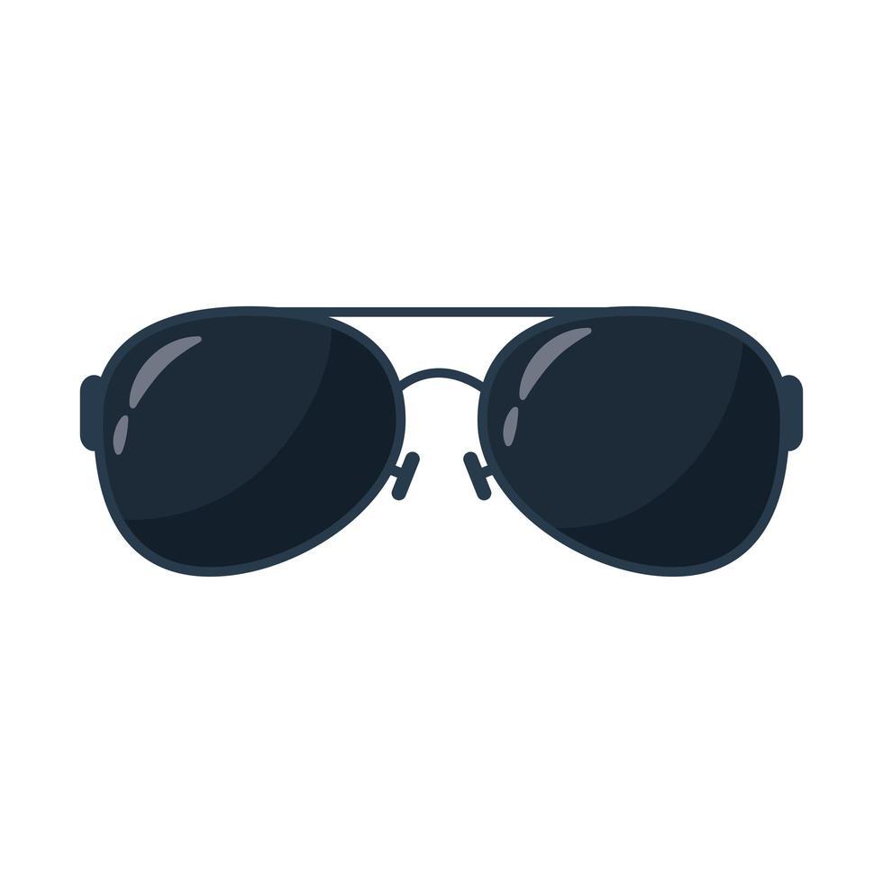 zomer zonnebril accessoire platte stijlicoon vector