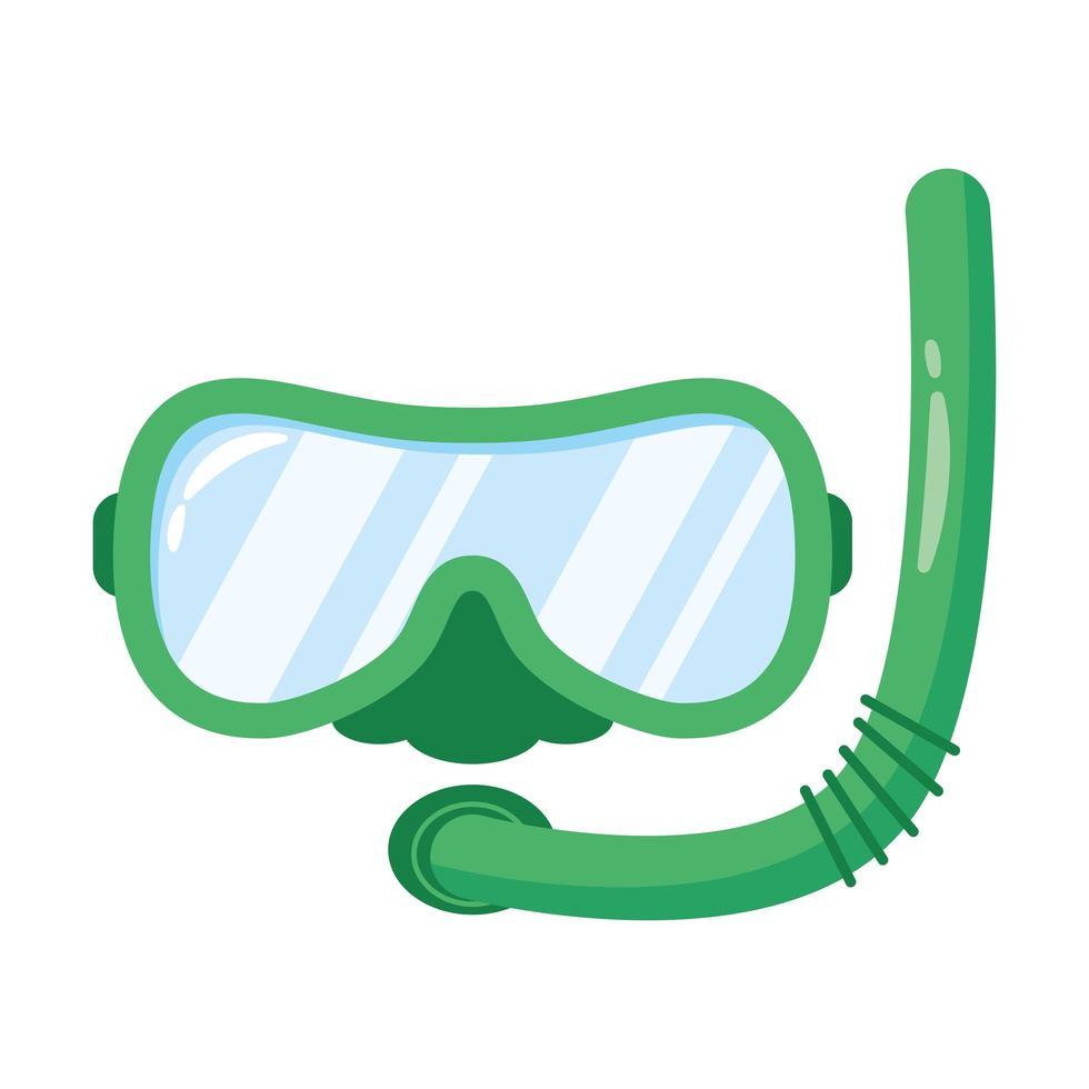 snorkel accessoire platte stijlicoon vector