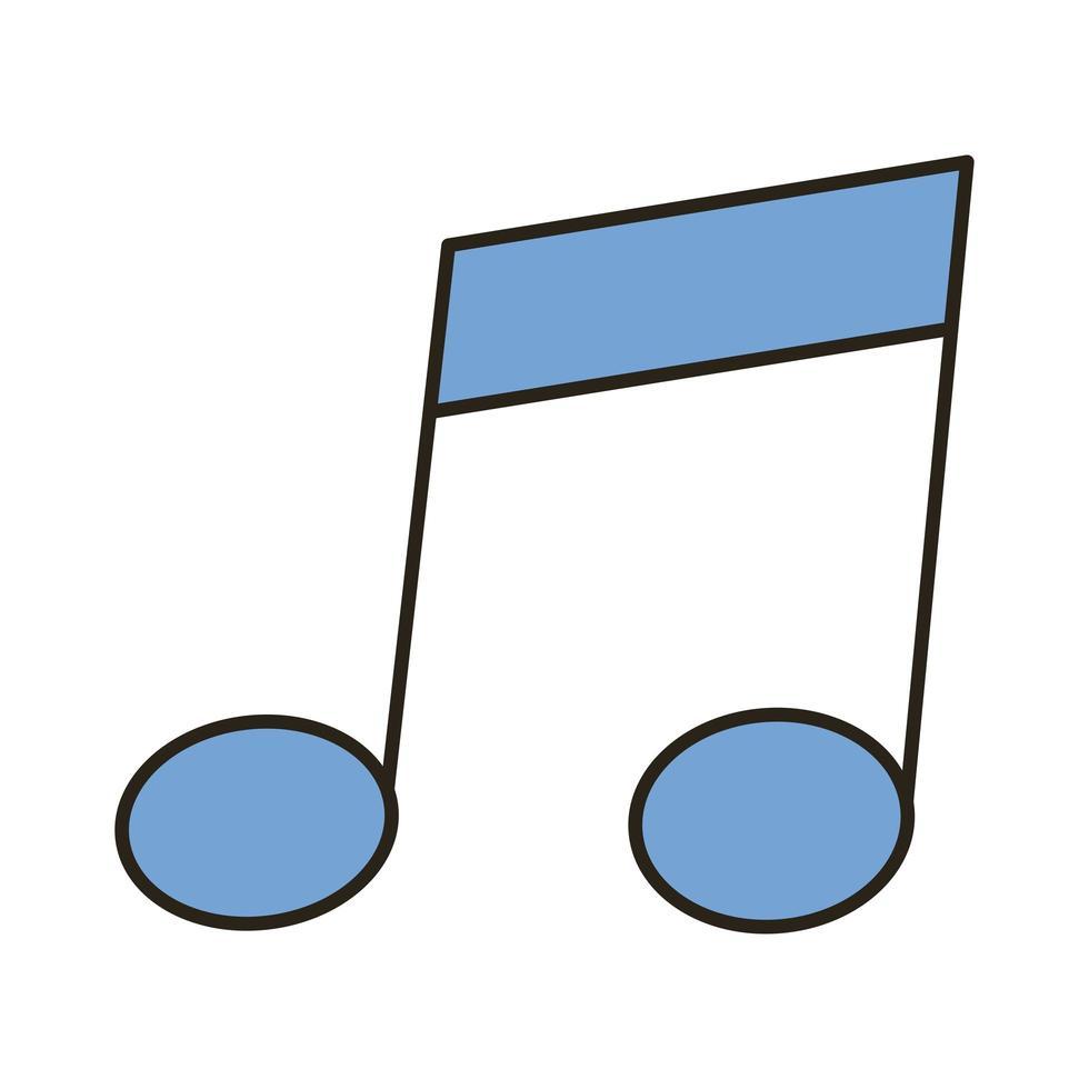 muzieknootlijn en opvulstijlpictogram vector