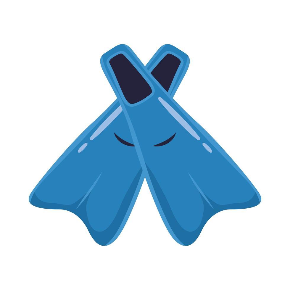 zwemmen vinnen platte stijlicoon vector