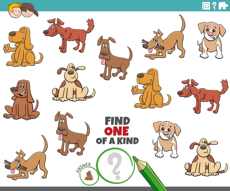 uniek spel voor kinderen met grappige honden vector