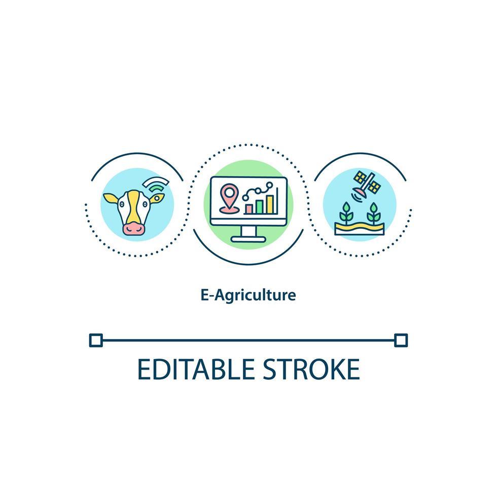 e-landbouw concept pictogram vector