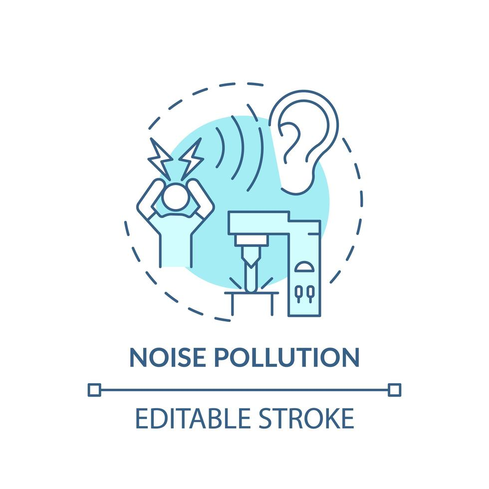 geluidsoverlast concept pictogram vector