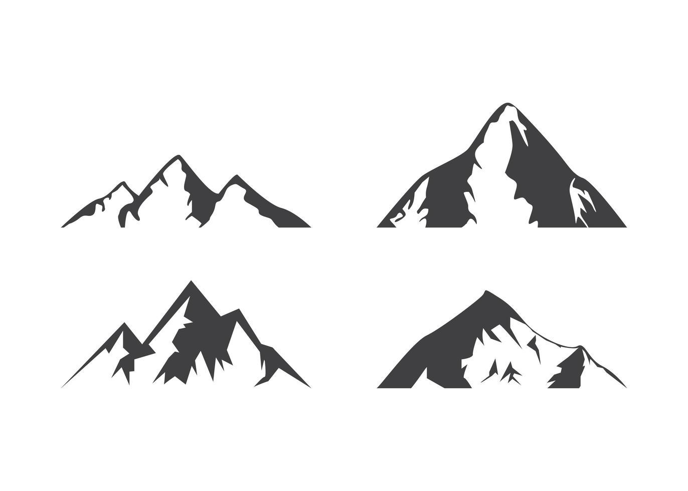 berg pictogram ontwerpsjabloon vector geïsoleerde illustratie