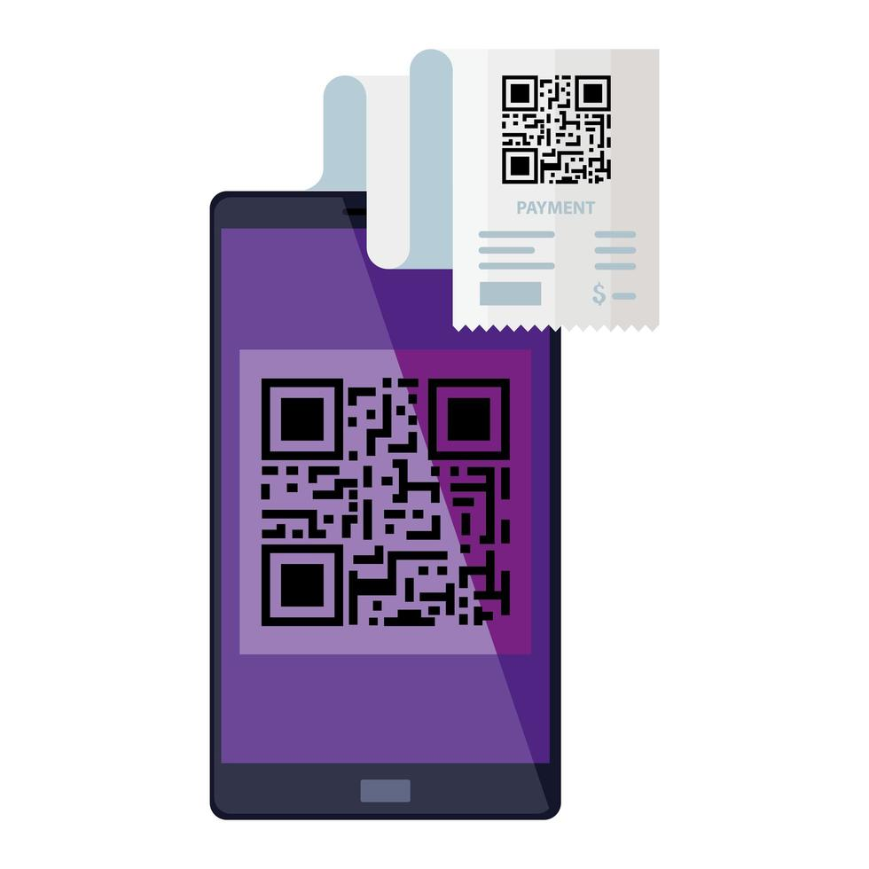 qr-codedocument en smartphone vectorontwerp vector