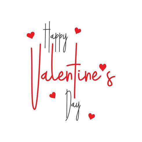 Valentijnsdag decoratieve tekst achtergrond vector