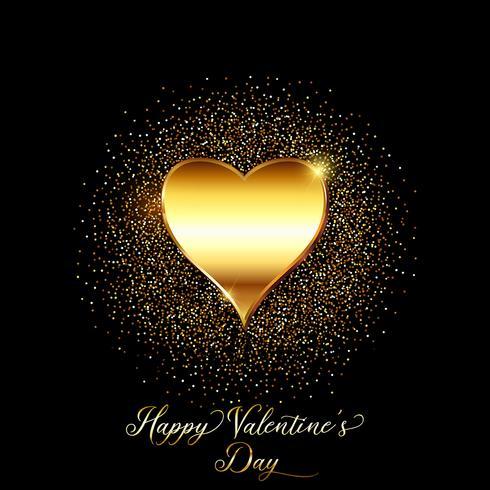 Goud glitter Valentijnsdag achtergrond vector