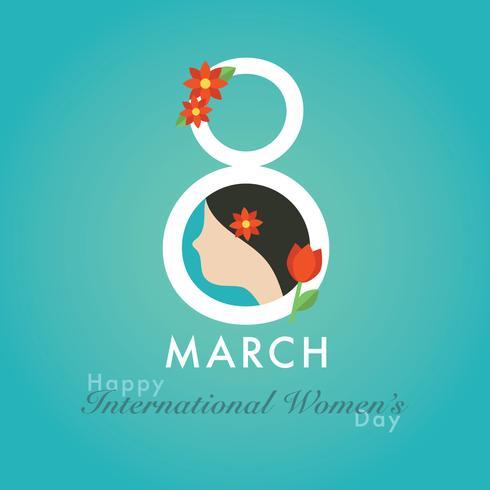 8 maart: Vrouwendag vector