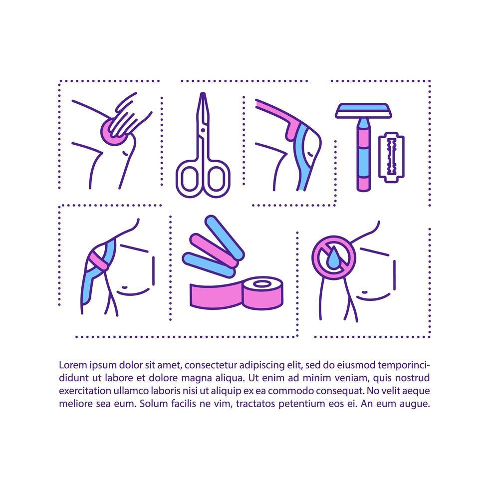 kinesiologie taping concept pictogram met tekst vector